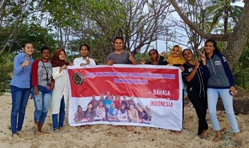 Implementasi Visi Prodi. Mahasiswa Semester III.A Prodi Pendidikan Bahasa Indonesia Melaksanakan Wisata Ilmiah di Tanjung Batu Kota Sorong